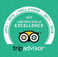 2019 Trip Advisor Hall of Fame Badge